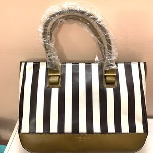 Henri Bendel Striped Tote Bag